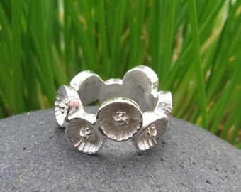 Tennessee Coneflower Full Flower Sterling Silver Ring