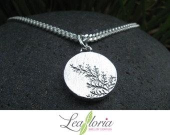 Sterling Silver LADIES Necklace Killarney Fern