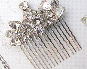 Wedding Hair Comb - Vintage Assemblage