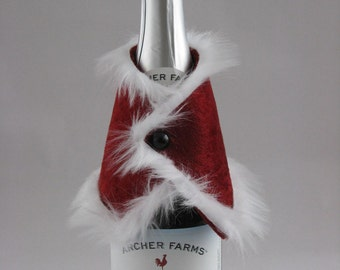 Wine or Soda Santa Bottle Jacket