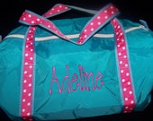 Duffel Bag Embroidered with Name or initials--Click For More Colors--