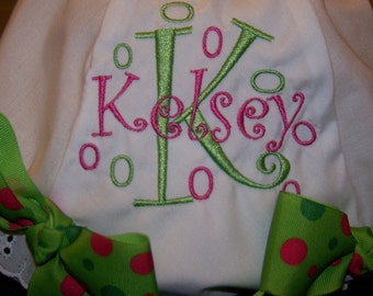 Custom Diaper Cover with Monogrammed Name