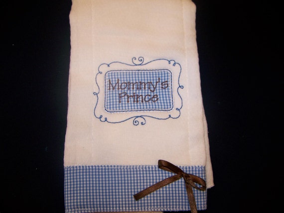 Embroider/Personalized Burp Cloth w/baby's name and initial