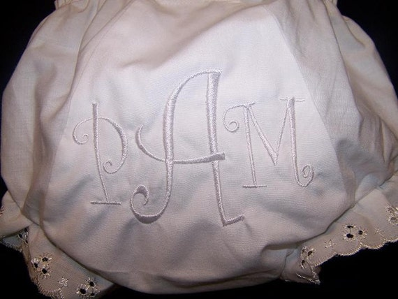 Embroidered Diaper Cover for Christening or Baby Dedication