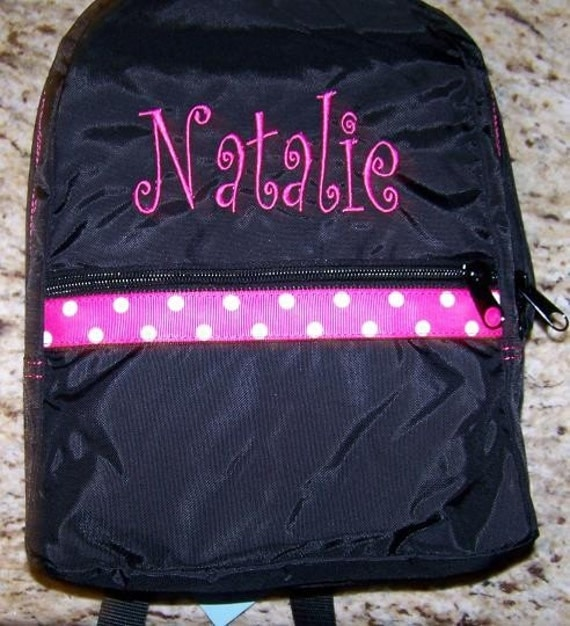Toddler Backpack with Child's Name Embroidered -- Click for MORE Colors