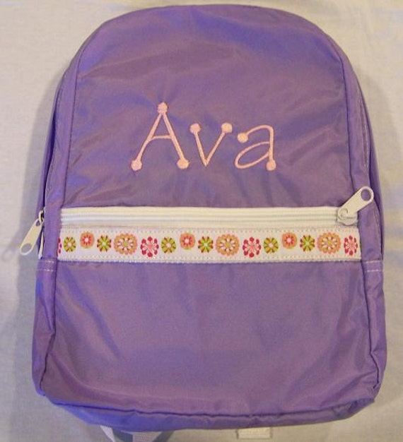Personalized Toddler  Backpack Embroidered or Monogrammed Click for MORE COLORS