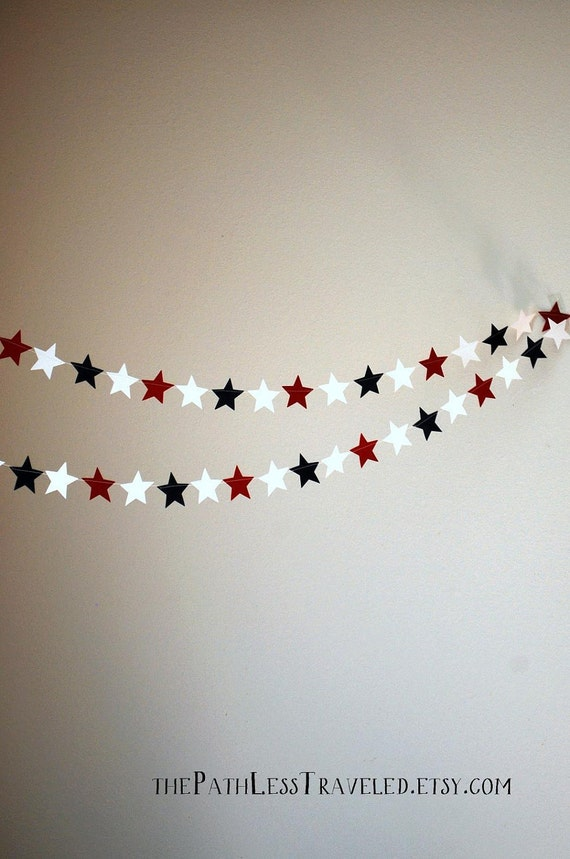 Stars Garland - red, white and blue