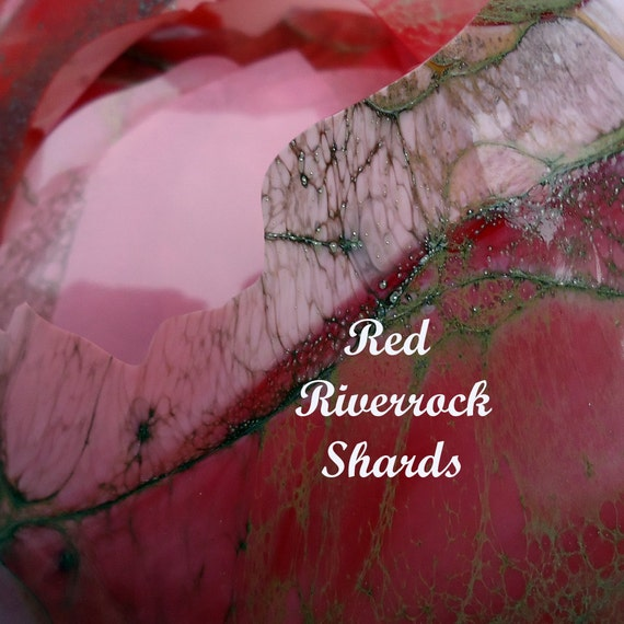 Shards, lampwork supplies, Red Riverrock 5g