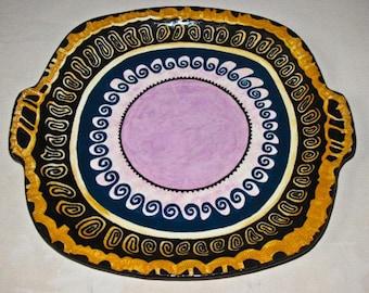 Platter with Lavender Medallion