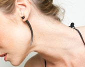 Fake Gauges, Handmade, Horn Earrings, Cheaters, Organic, Plugs, Split, Tribal Style - Talons Large Horn
