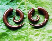 SALE Fake Guage Spirals - Coconut Fake Gauges