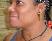 Fake Gauges, Fake Plugs, Gypsy, Handmade Wood Earrings, Tribal Style - Ironwood Talons Small