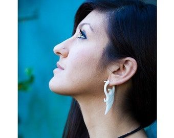 Post Earrings, Handmade Bone, Tribal Style, Stick Earrings - Shira Wings