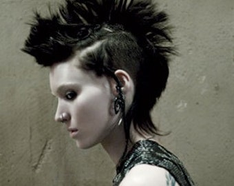 Fake Gauges, Fake Plugs, Handmade Horn Earrings, Tribal Style, Girl with the Dragon Tattoo - Rooney Silver Tipped Spirals
