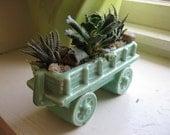 Tiny Wagon with Little Echeveria and Haworthia