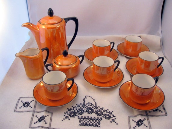 Vintage Childrens Dishes Tea Coffee Set Germany