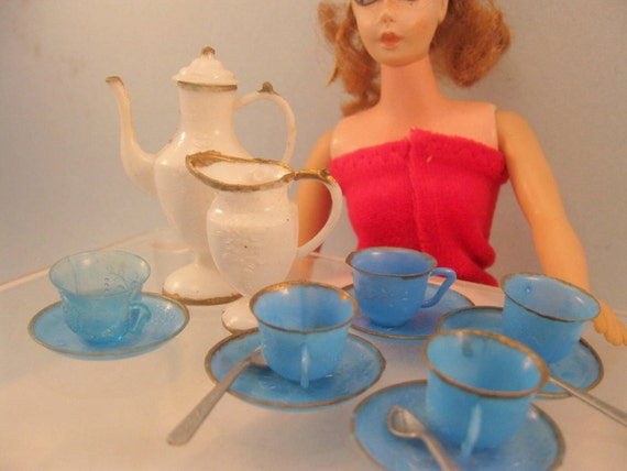 1960s Barbie Doll Tea Set Dishes By Mothersminitreasures