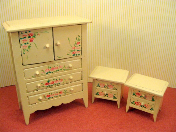 miniature furniture dollhouse bedroom set shabby