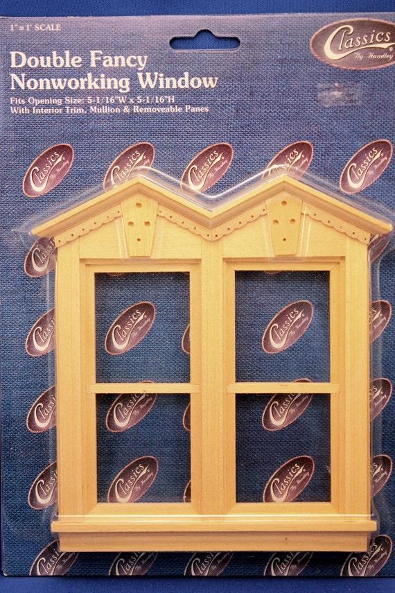 Victorian Dollhouse Window Kit Unfinished Wood