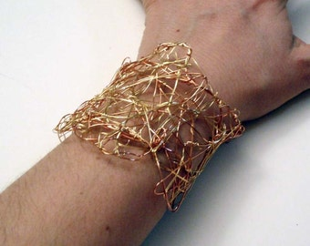 Free-form Copper Wire Cuff Bracelet