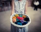 Flower Girl Pom - Mint Greens