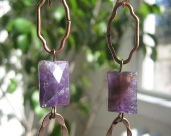 Amethyst--Burst of Lavender Earrings