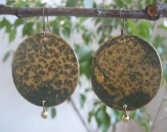 Brass Verdigris Earrings