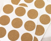 108 BLANK Mini 3/4 inch round Dot Kraft Circle Stickers