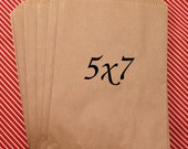 50 MEDIUM Kraft brown paper bags 5 x 7 inch - for Packaging, Party Favors, merchandise bags, gift wrapping