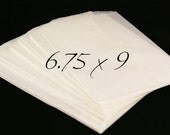 Set of 100 FOOD SAFE Wax Paper Glassine Bags, treat bags -9 x 6 3/4 inch