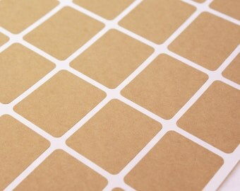 Kraft brown labels -75 BLANK 1 1/2 x 2 inch Rectangle Stickers for Labeling, Custom Printing, Packaging, invitations