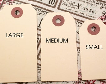 Manila hang tags - 75 SMALL Traditional shipping tags 2 3/4 x 1 3/8- gift wrapping, stamping, crafting, parcel