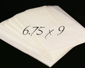 Set of 50 FOOD SAFE Wax Paper Glassine Bags, treat bags -9 x 6 3/4 inch
