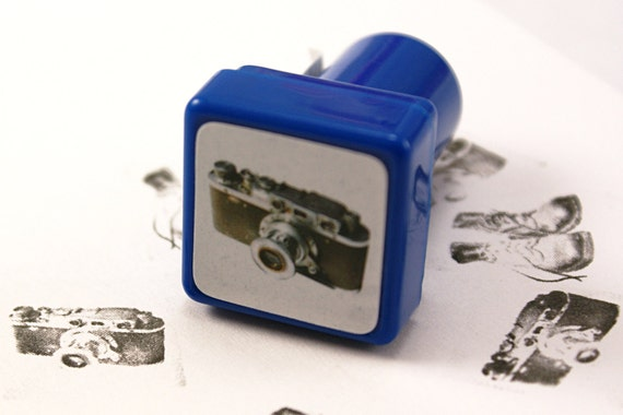 PHOTO REAL manual 35mm camera Self-Inking Peg Rubber Stamp - version 2