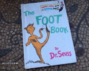 Treasury Item - The Foot Book by Dr. Seuss  1968 - Great Condition