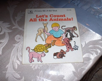 Let's Count All the Animals - A Golden Tell-A-Tale Book - 1979