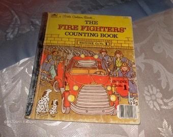 The Fire Fighters Counting Book  - a Little Golden Book - 1983