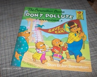 The Berenstain Bears - First Time Books - Don't Pollute  - Great condition