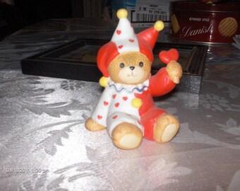Enesco Ceramic Jester Bear - 1980s