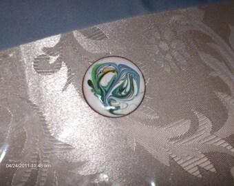 1970s Copper Enamel Brooch/Pin