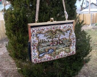 Vintage Tapestry Handbag / Purse - Lovely