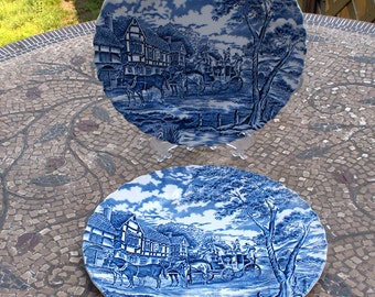 Vintage Blue and White Myott ''Royal Mail'' Fine Staffordshire Ware  - Made in England - Beautiful