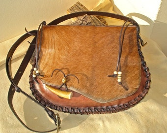 "Rustic Leather Bag ""Autumn"""