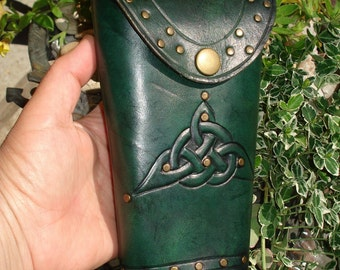 Tooled Leather Crossbow Darts Quiver