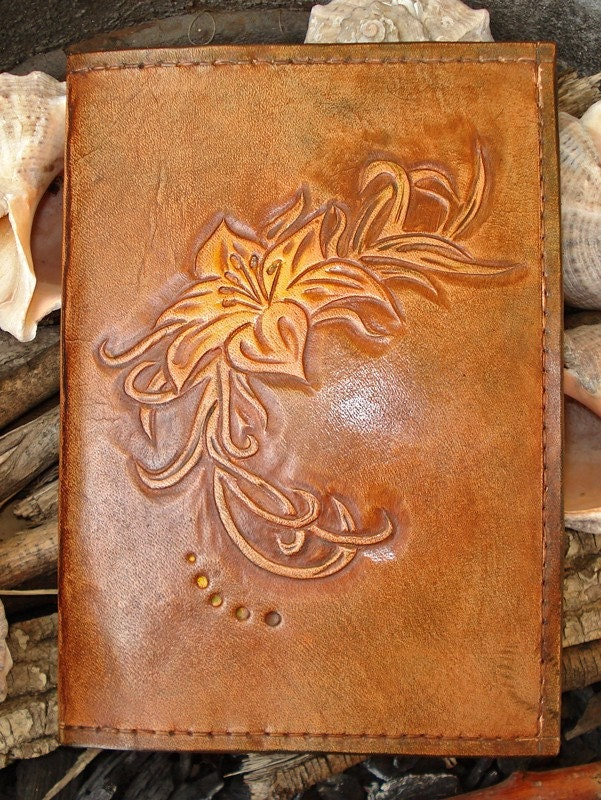 Reserved Listing Leather Photo Album Hand Tooled Cover