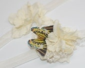 OOAK - WONDERLAND - Floral with Butterfly Garger set - One Toss and One Keepsake