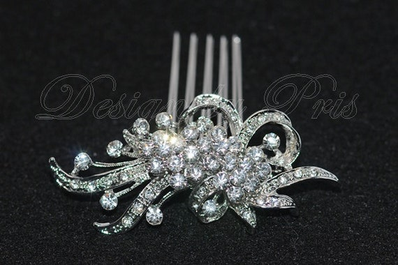 HPC1 S - BEST Seller - Bridal Vintage Crystal Hair Comb - Bridal.Bridesmaids.Hairpiece