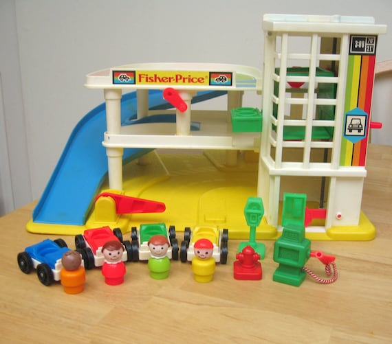 reserved fisher price vintage garage playset. Black Bedroom Furniture Sets. Home Design Ideas