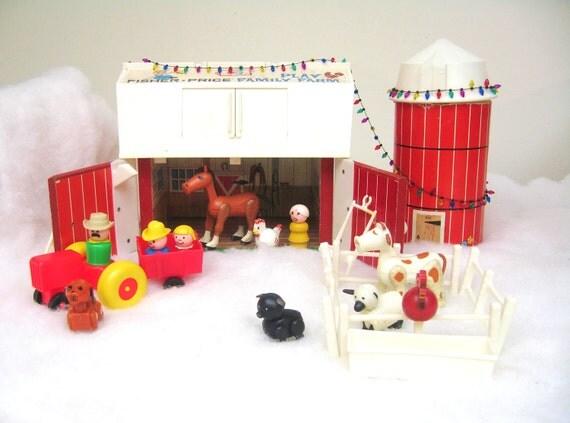 Vintage Fisher Price Farm Set Complete with Original Accessories - Shop Sale
