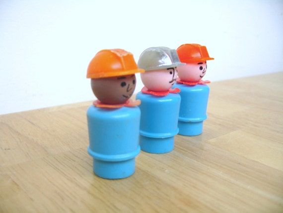 Vintage Fisher Price Construction Workers
